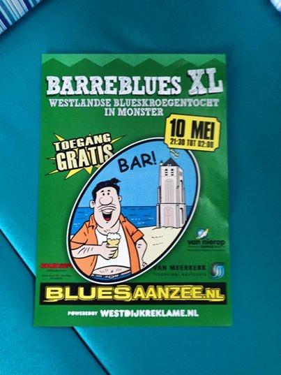 Blues aan zee XL zaterdag 10mei a.s.